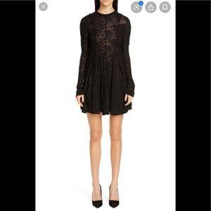 NWOT Anthropology Meadow Rue Lace Black  Dress